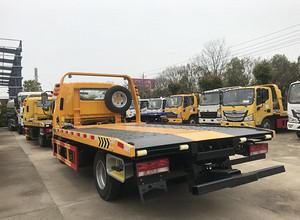 蓝牌江淮骏铃V5一拖二 伸缩板 救援拖车图片