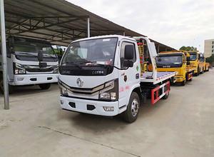 国六东风多利卡一拖二清障救援拖车图片