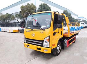 国六蓝牌大运一拖二道路救援拖车(伸缩板)图片