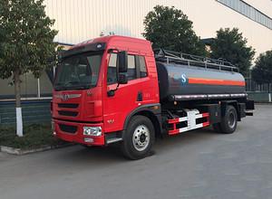 解放10吨铝合金油罐车 运油车 槽罐车