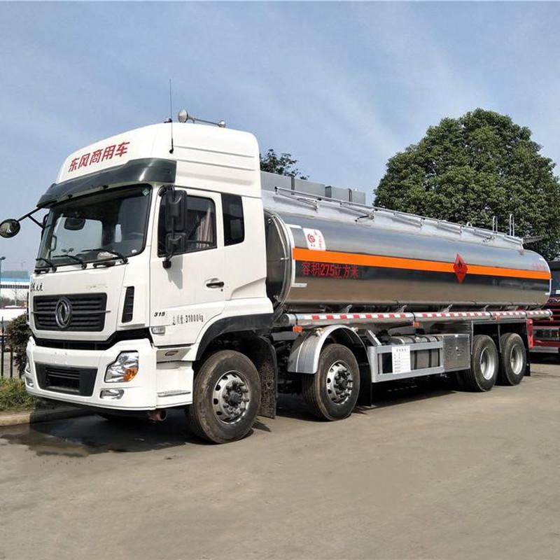 东风天龙25吨铝合金油罐车 运油车 槽罐车