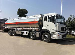 东风天龙25吨铝合金油罐车 运油车 槽罐车图片