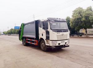 国六  解放 14方  压缩式垃圾车