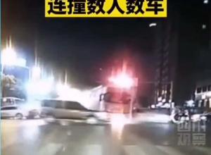 2020年5月18号达州重型罐车路口失控连撞数人数车事故现场图片