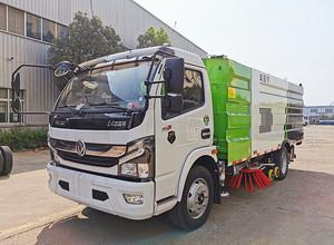 东风福瑞卡8吨洗扫车功能视频展示图片