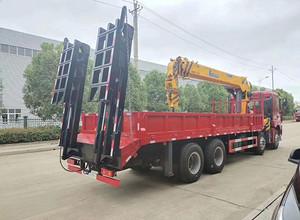 徐工汉风一体化14吨G系列5节臂平板带爬梯多功能随车吊图片