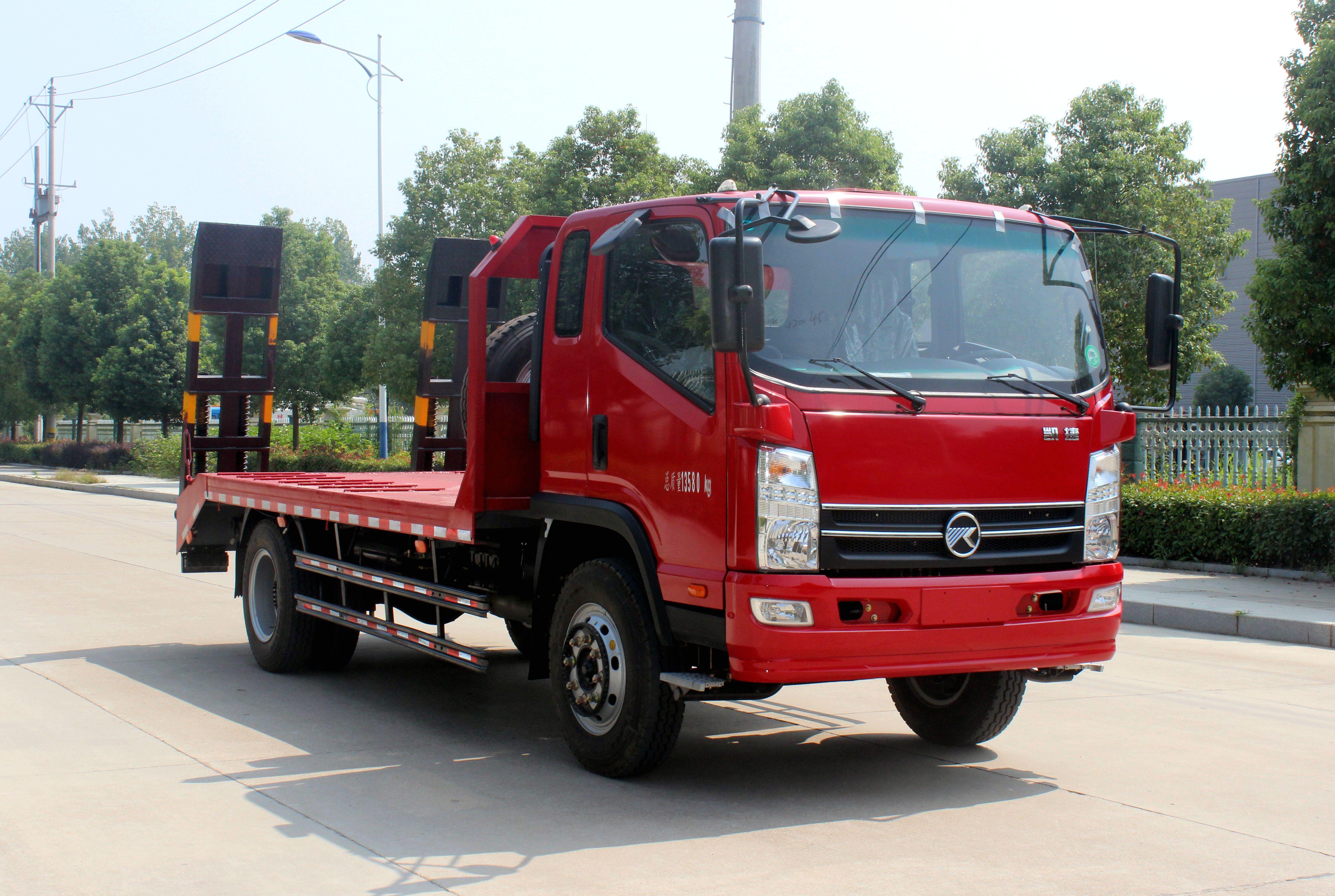 凯马10-15吨挖机平板运输车