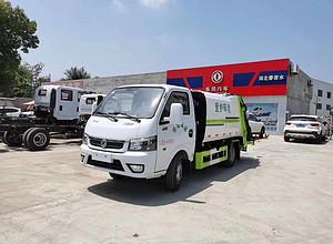 东风蓝牌3.5方柴油版压缩垃圾车图片