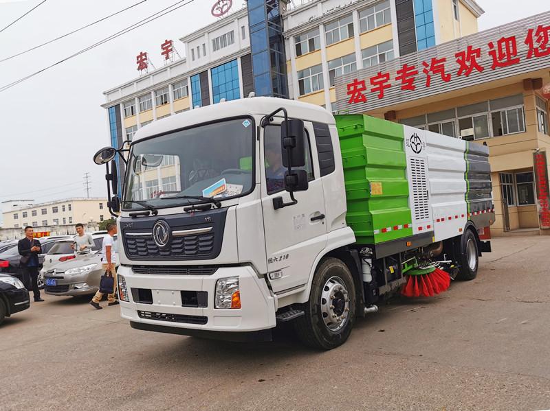 国六东风天锦16吨洗扫车功能视频展示
