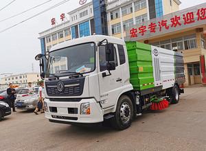 国六东风天锦16吨洗扫车功能视频展示图片