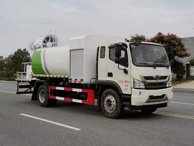 福田11吨抑尘降尘雾炮洒水车