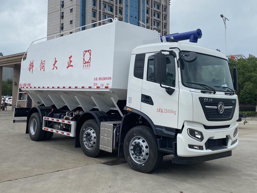 东风天锦小三轴30方散装饲料运输车(6X2)