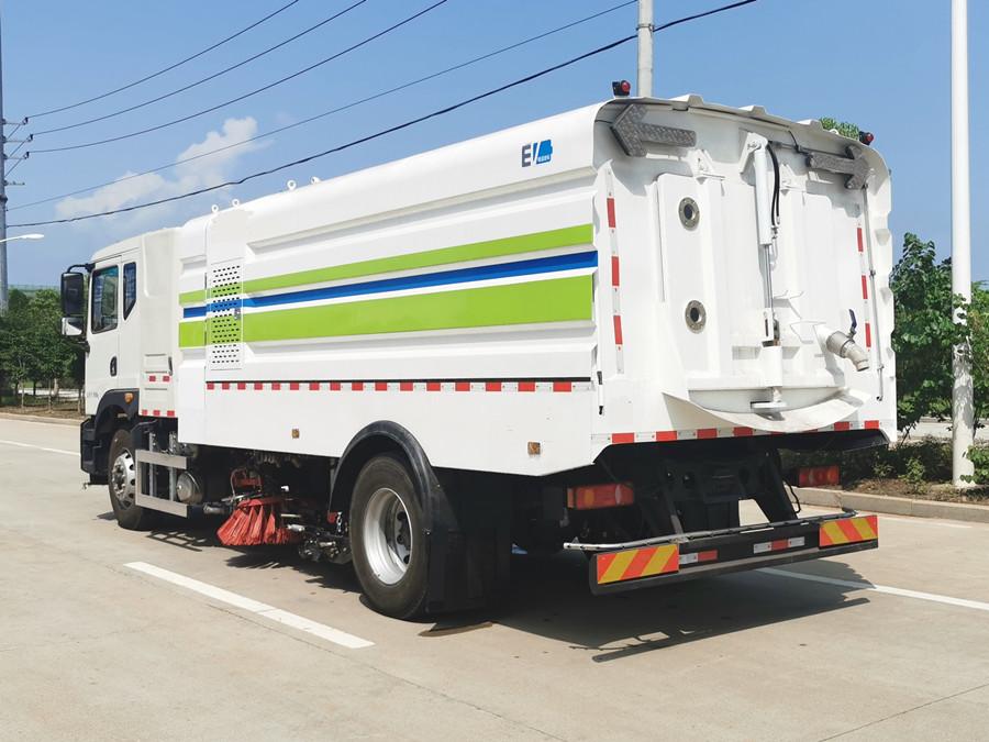 东风华神新能源纯电动18吨洗扫车外观图片鉴赏